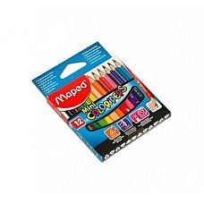 Цветни моливи къси Maped 12 цвята