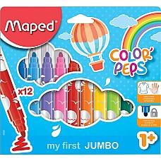 Флумастери за малки деца Maped 12 цвята
