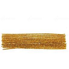 Гъвкав плюшен шнур - брокат златен