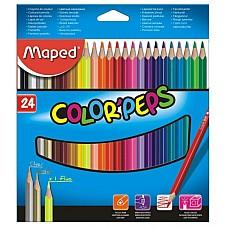 Цветни моливи Maped 24 цвята