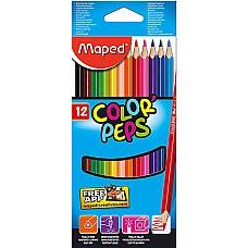 Цветни моливи Maped 12 цвята