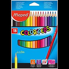 Цветни моливи Maped 18 цвята