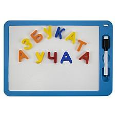 Комплект магнитна бяла дъска с букви и маркер