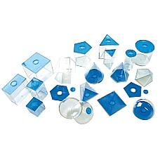 Геометрични фигури разглобяеми 17 бр сини