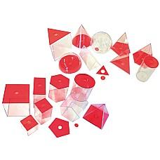 Геометрични фигури разглобяеми 17 бр големи