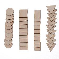 Геометрични дървени фигури, 40 бр