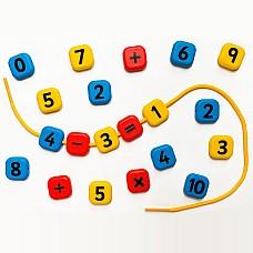 Математически големи мъниста 21 бр.