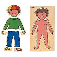 Опознаване на тялото Момче - дървен пъзел