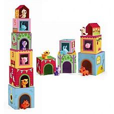 Кула от кубчета с фигурки на животни