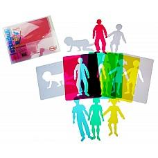 Шаблони Фигури на хора полупрозрачни