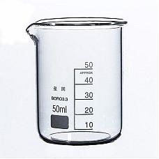 Чаша Бехер 100 мл ниска форма стъклена