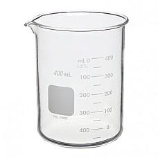 Чаша Бехер 400 мл ниска форма стъклена