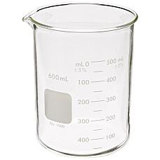 Чаша Бехер 600 мл  стъклена.