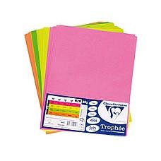 Хартия цветна А4, 4 Неонови цвята по 25 листа
