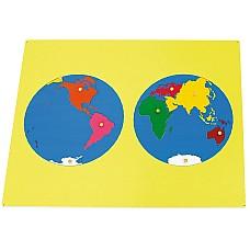 Карта на Света- дървен пъзел