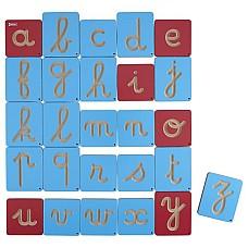 Графомоторен комплект дървени ръкописни букви 26 бр