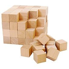 Дървени кубчета - натурални