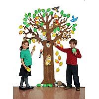 """""""Дърво с животни"""" - апликация за стена"""