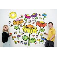 """Апликация за стена """"Цветна градина"""""""