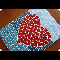 Мозайка квадратчета 1,5 cm. 100 бр.- огледални