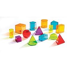 Цветни прозрачни геометрични тела (14 бр.)