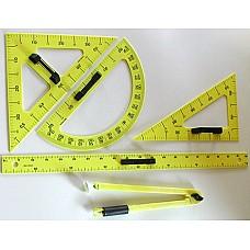 Чертожен инструмент за дъска- Триъгълник разностранен