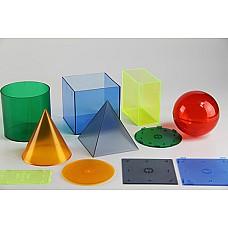 Големи прозрачни геометрични тела (6бр.)
